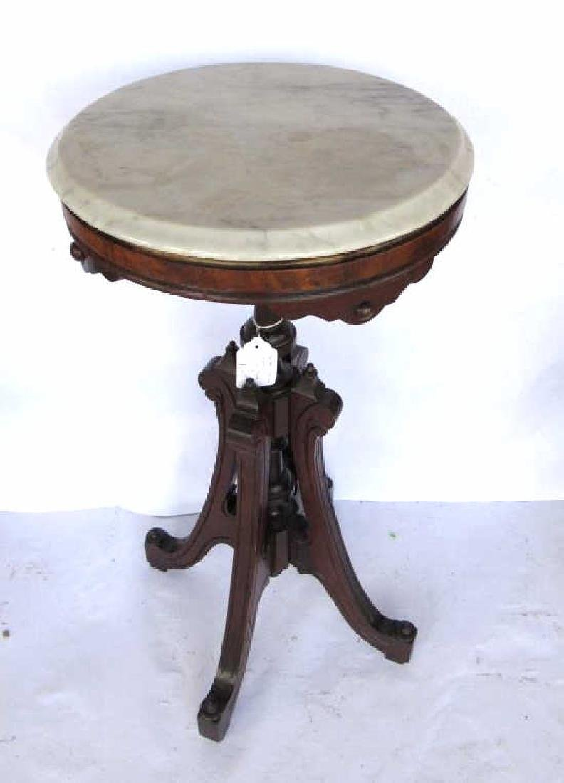 Victorian Wood & Marble Table - 4