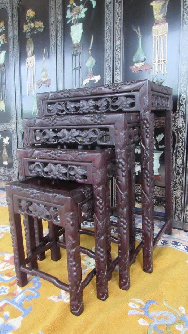 Set of Three of Chinese Qing Dynasty Side Tables