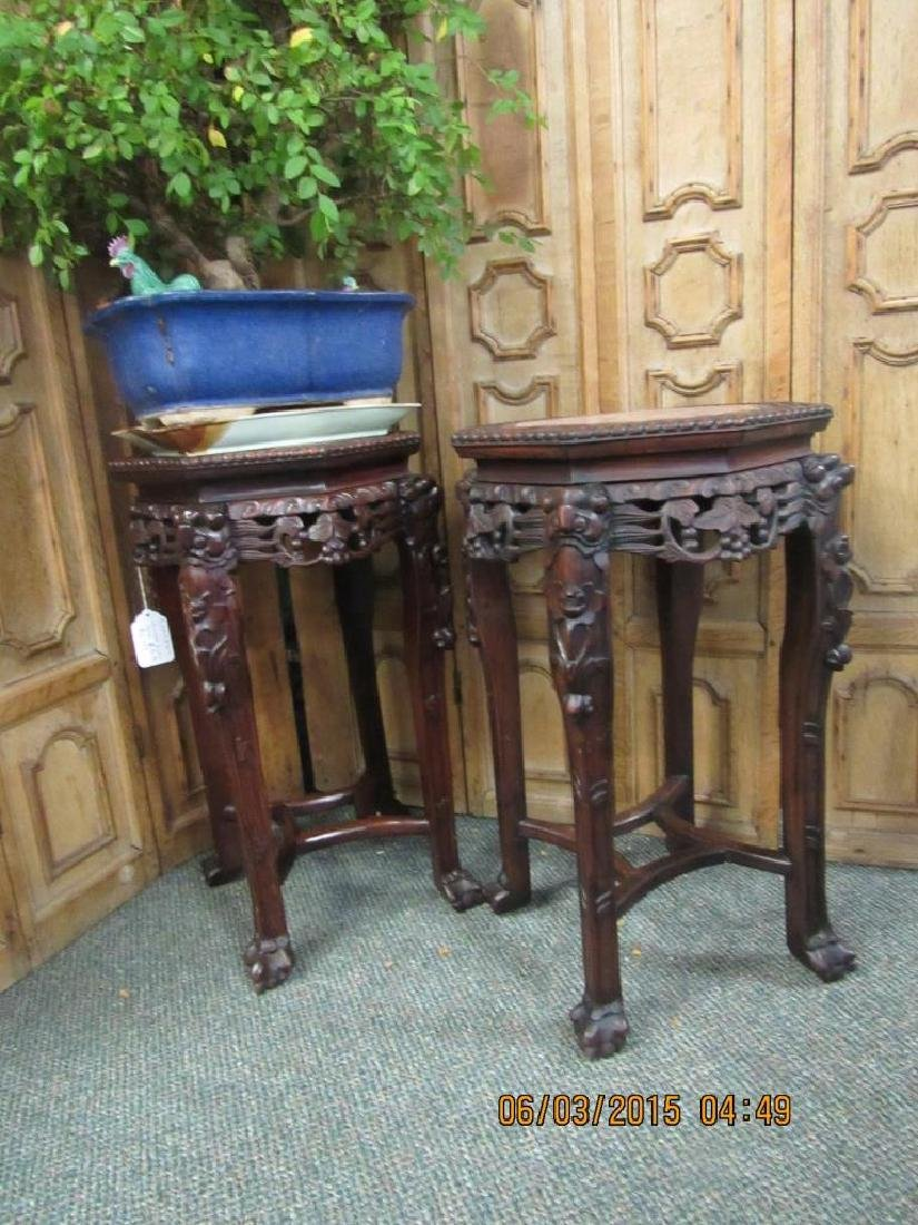 Pair of Chinese Rosewood Tables