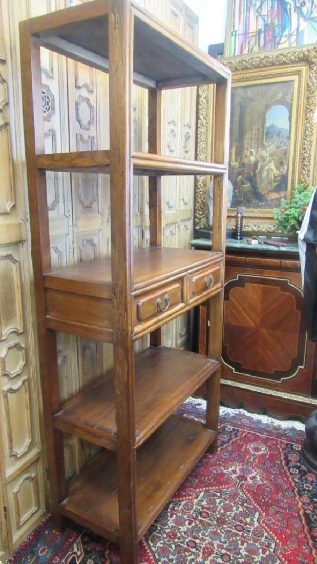 19th Century Chinese Hongmu Open Bookshelf