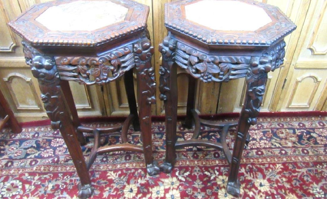 Pair of 19th Century Qing Dynasty Chinese Rosewood