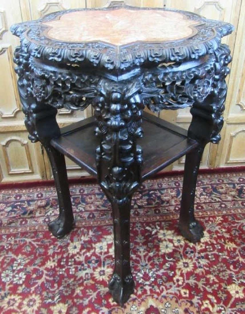 19th Century Qing Dynasty Chinese Rosewood Stand