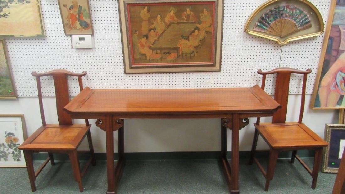 20th Century Chinese Huanghua Table and Chair