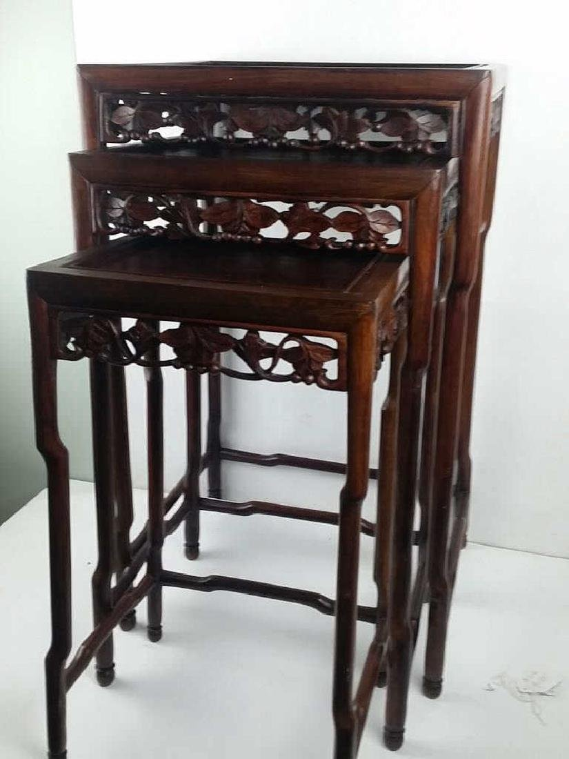 3 Pieces 19th Century Huanghuali Wood Stands