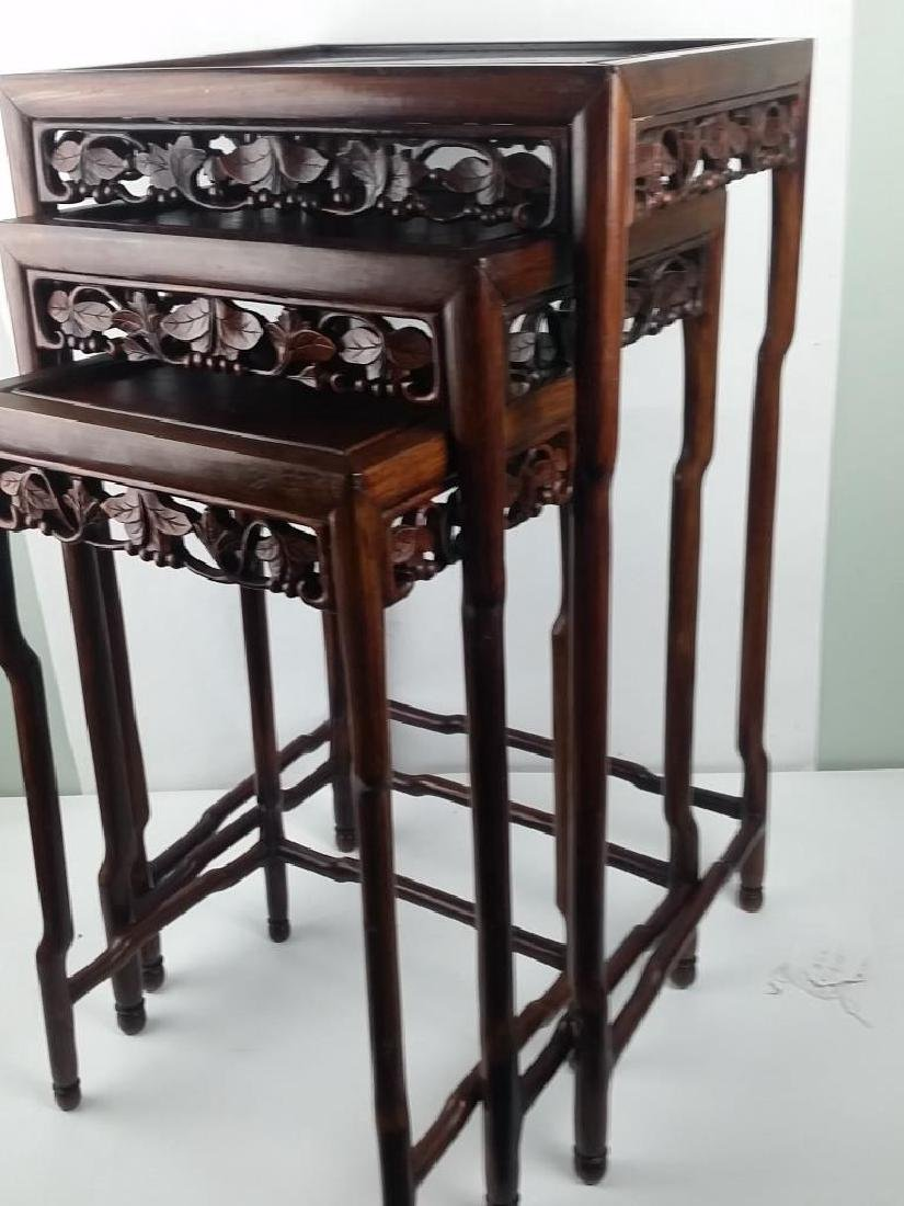 3 Pieces 19th Century Huanghuali Wood Stands - 2