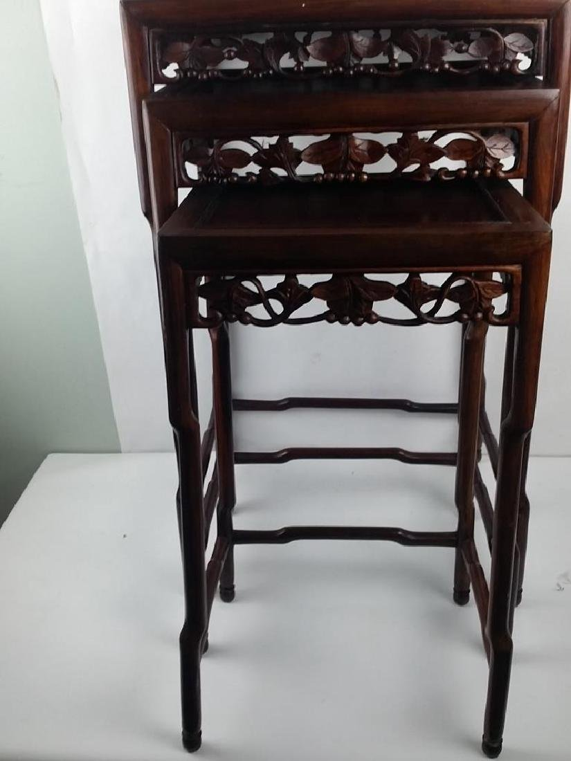 3 Pieces 19th Century Huanghuali Wood Stands - 3