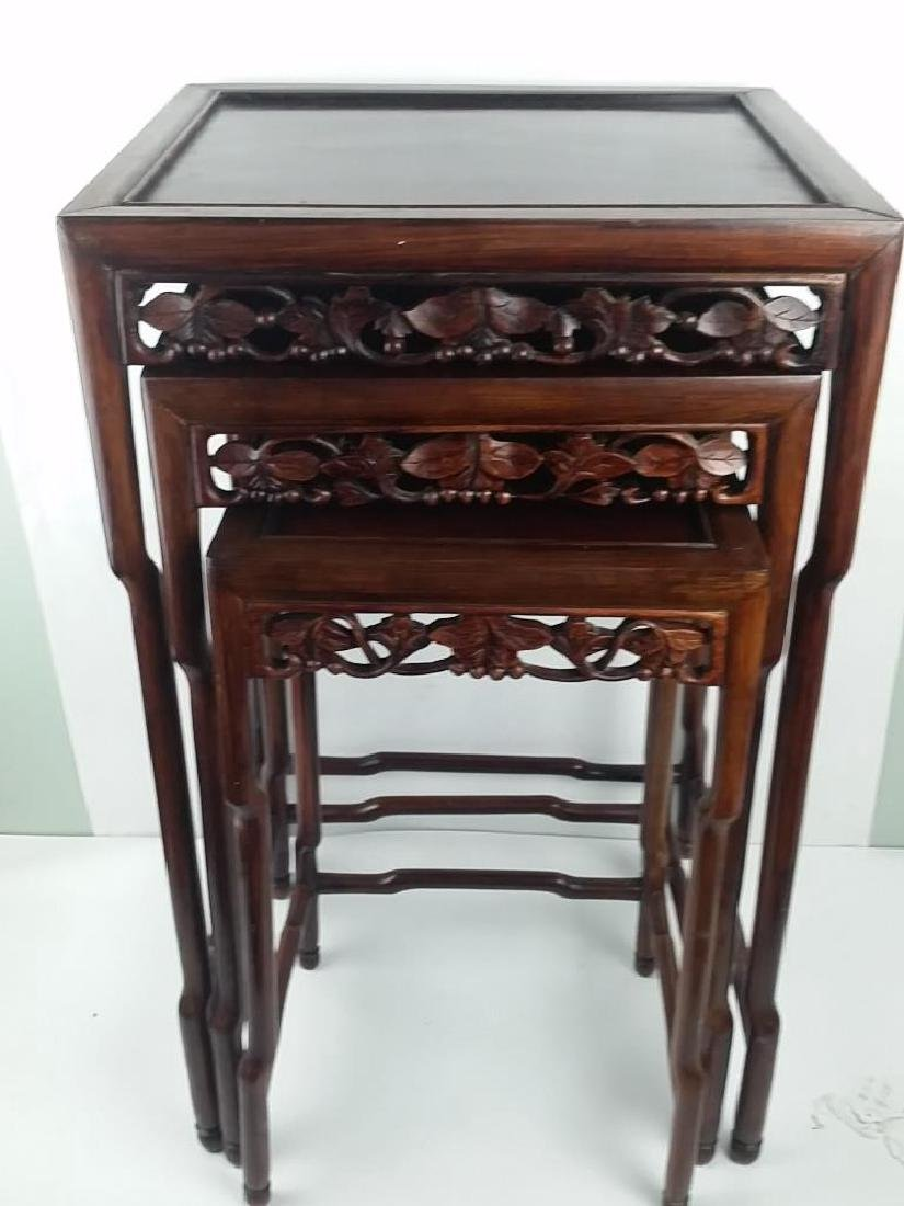 3 Pieces 19th Century Huanghuali Wood Stands - 5