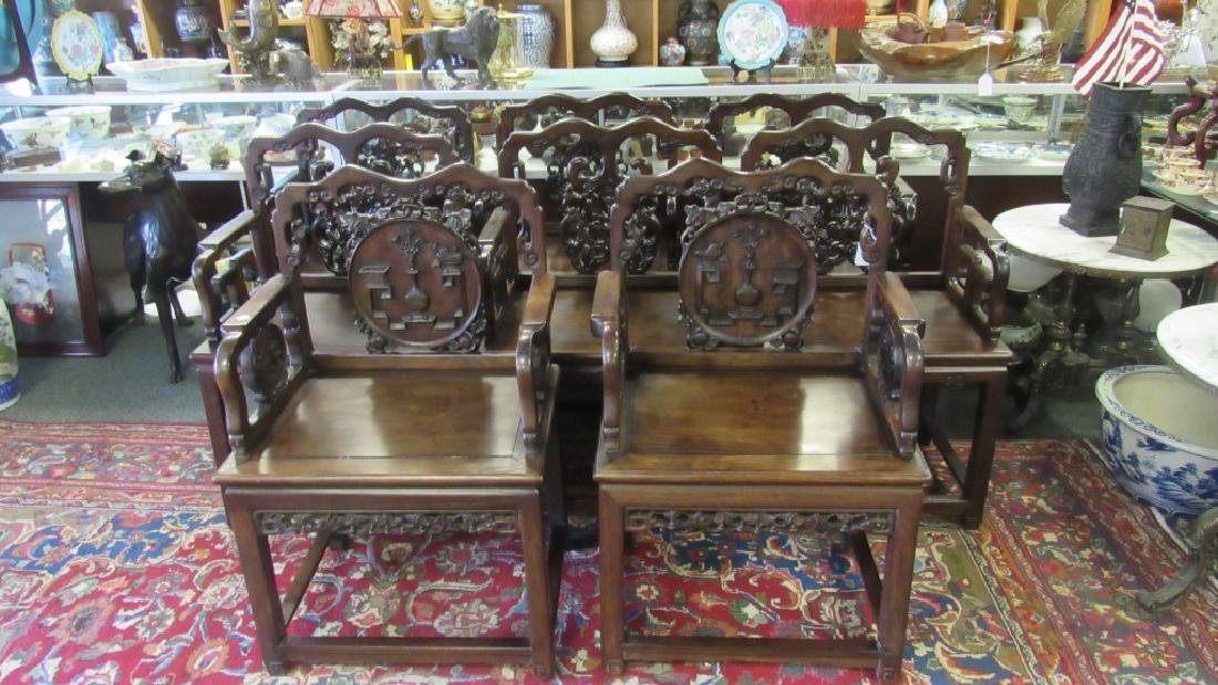 Set of Six Rosewood Armchairs