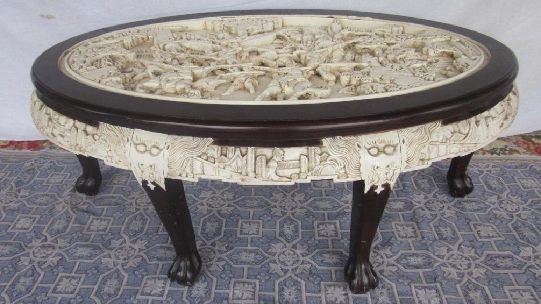 Carved Hardwood CoffeecTable