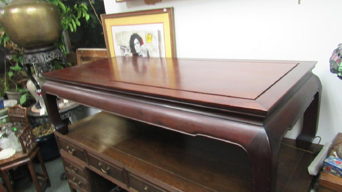 Chinese Huanghuali Wood Carved Coffee Table