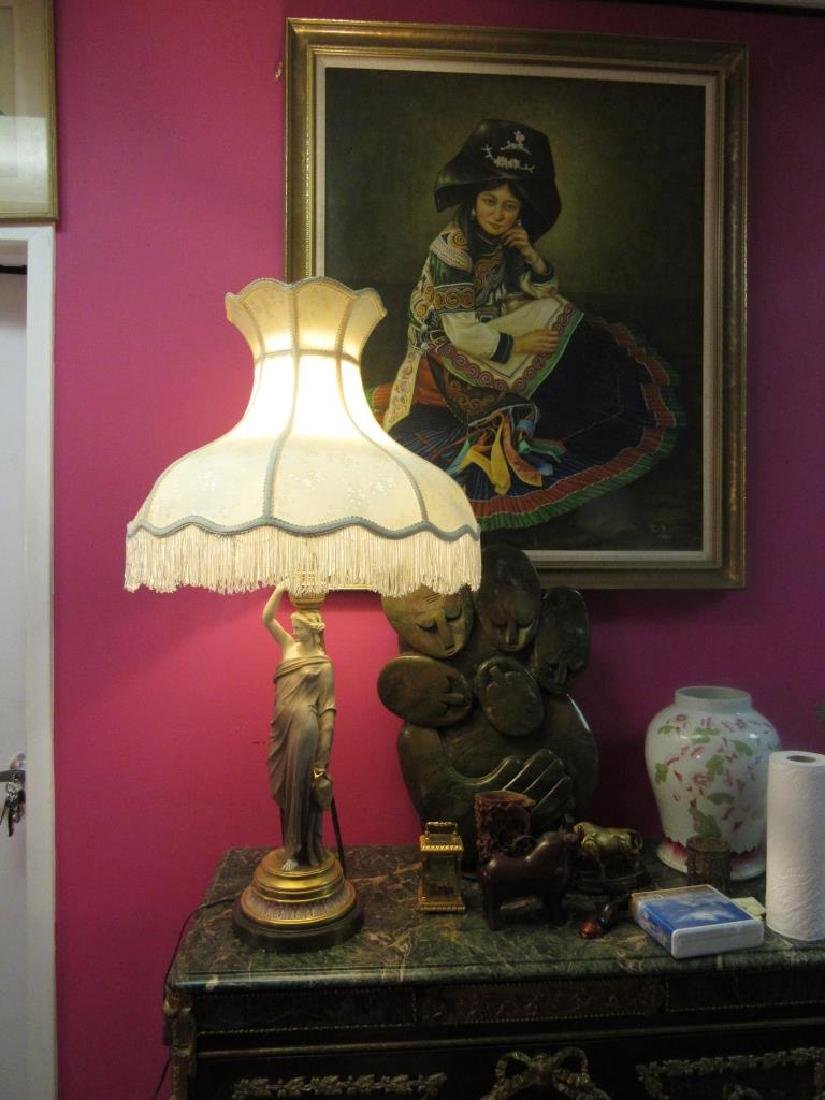 Vintage Figurine Table Lamp