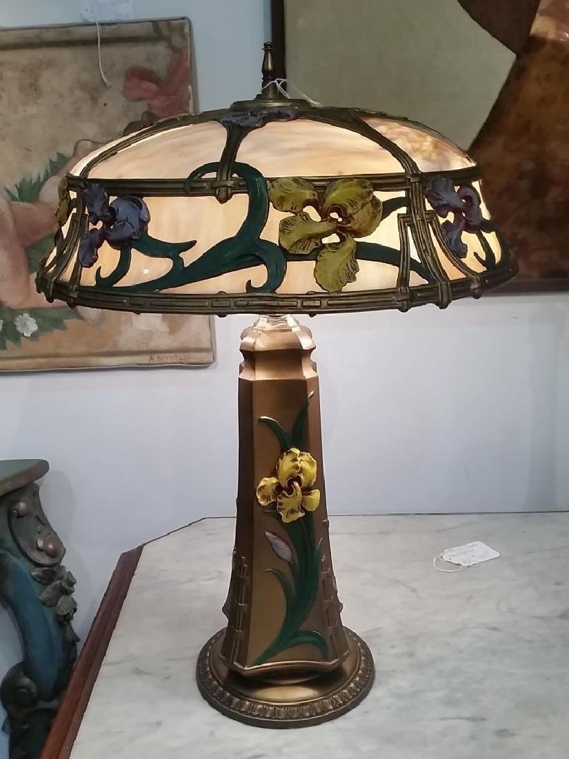 Decorative Table Lamp with Floral Designs