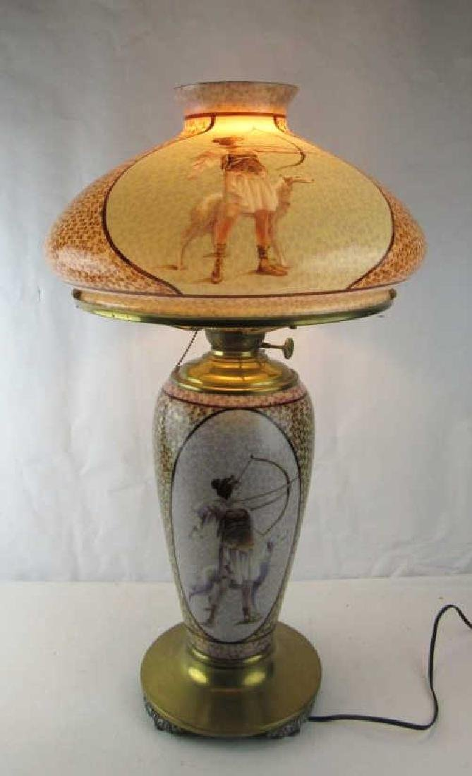 Hand Painted Parlor Lamp