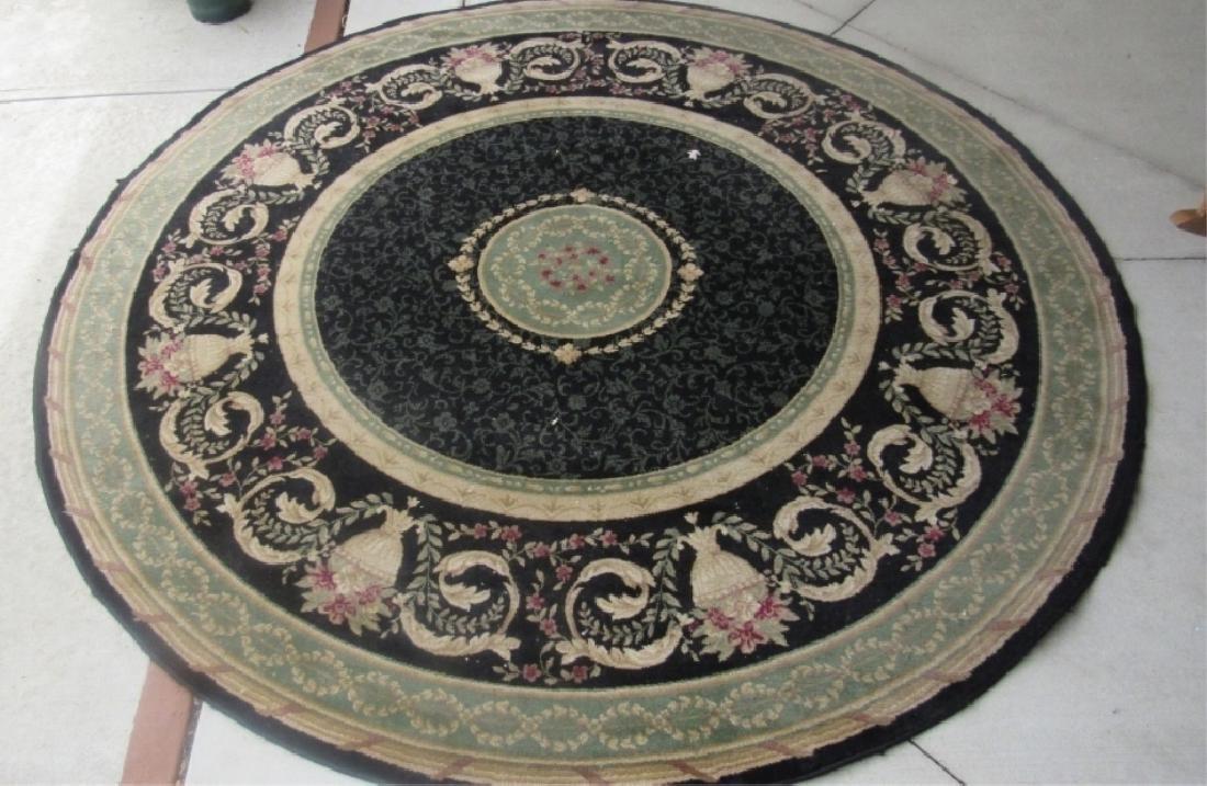 Circular Flower Design Rug