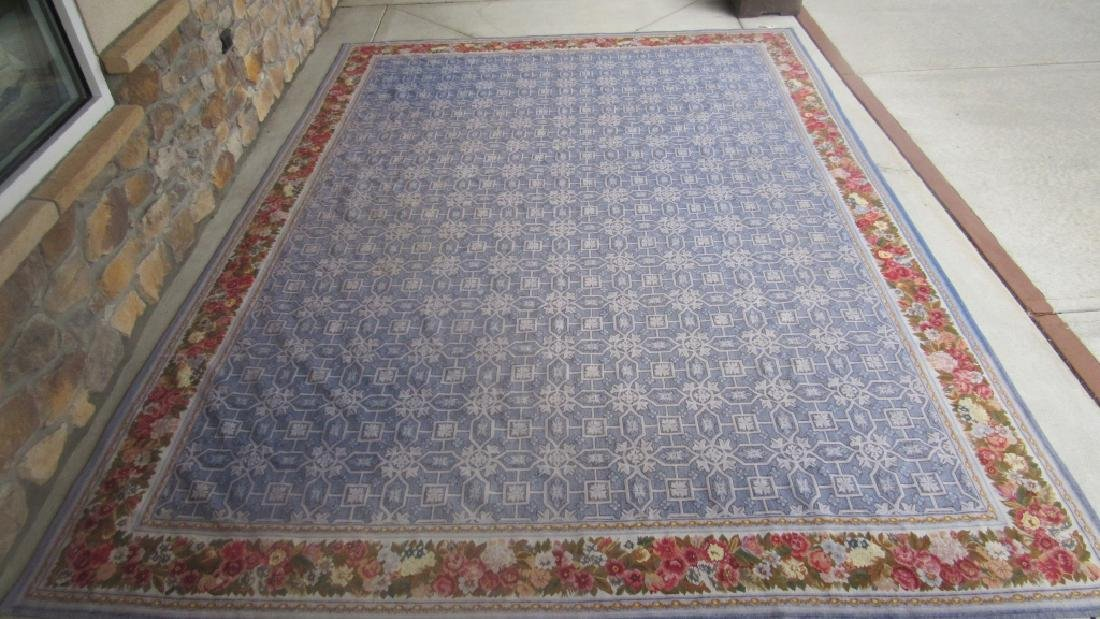 Large Handcrafted Wool Rug