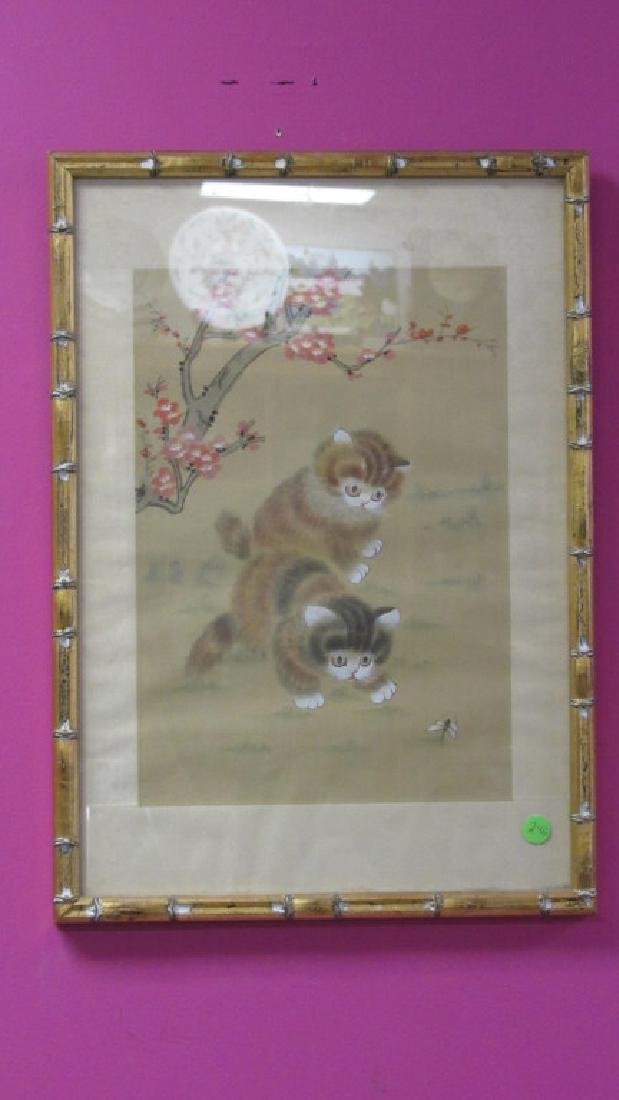 Painting of Cats Playing