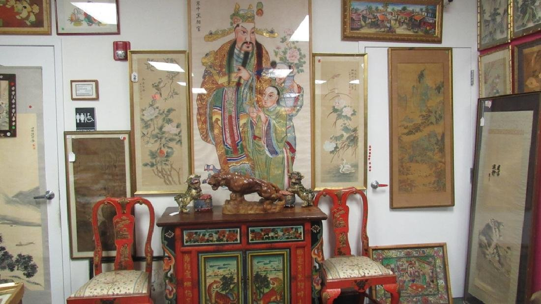 Chinese God of Wealth Gold Painting