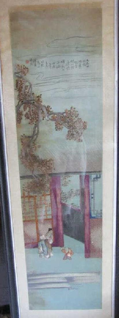 Framed Painting on Silk