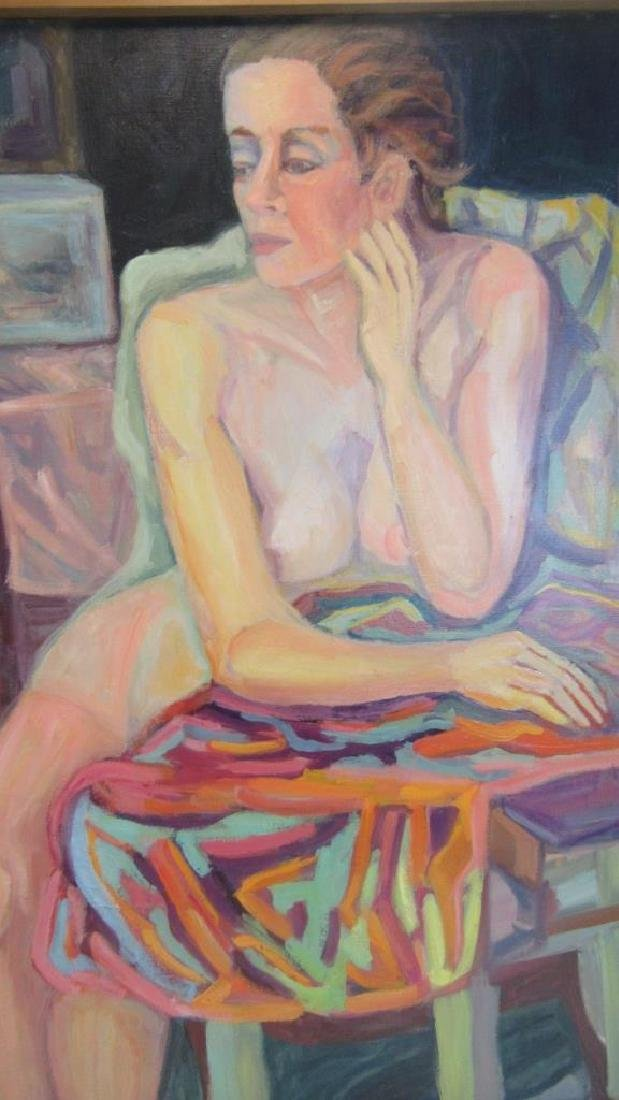 Oil Painting of Nude Woman in Frame