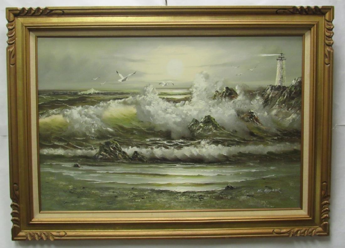 Original Oil Painting By K. Beiber