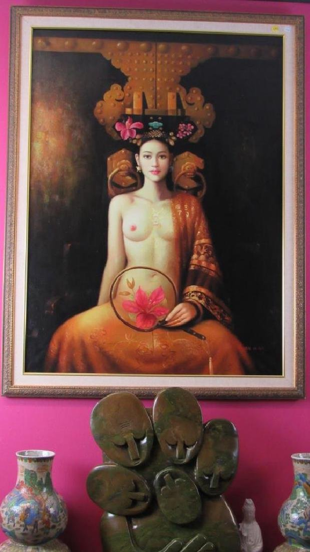 Original Oil Painting of a Nude