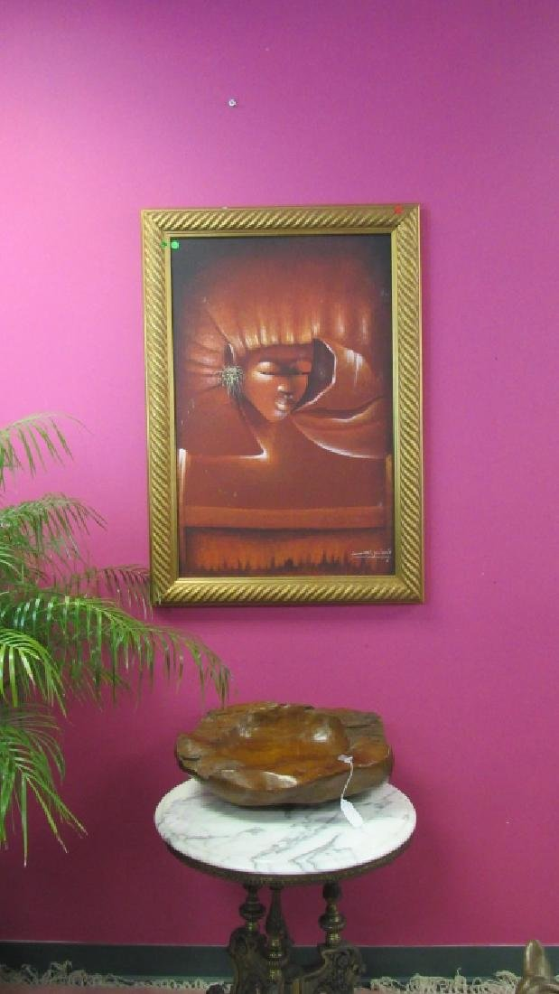 Haitian Painting of a Girl - 4