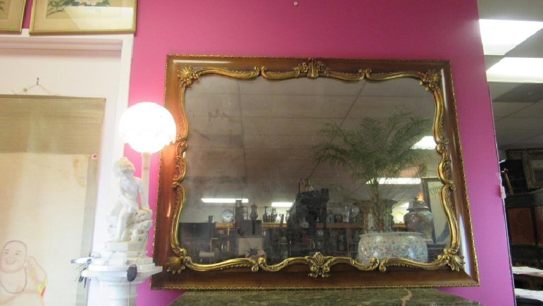 Vintage Ornately Framed Glass Mirror