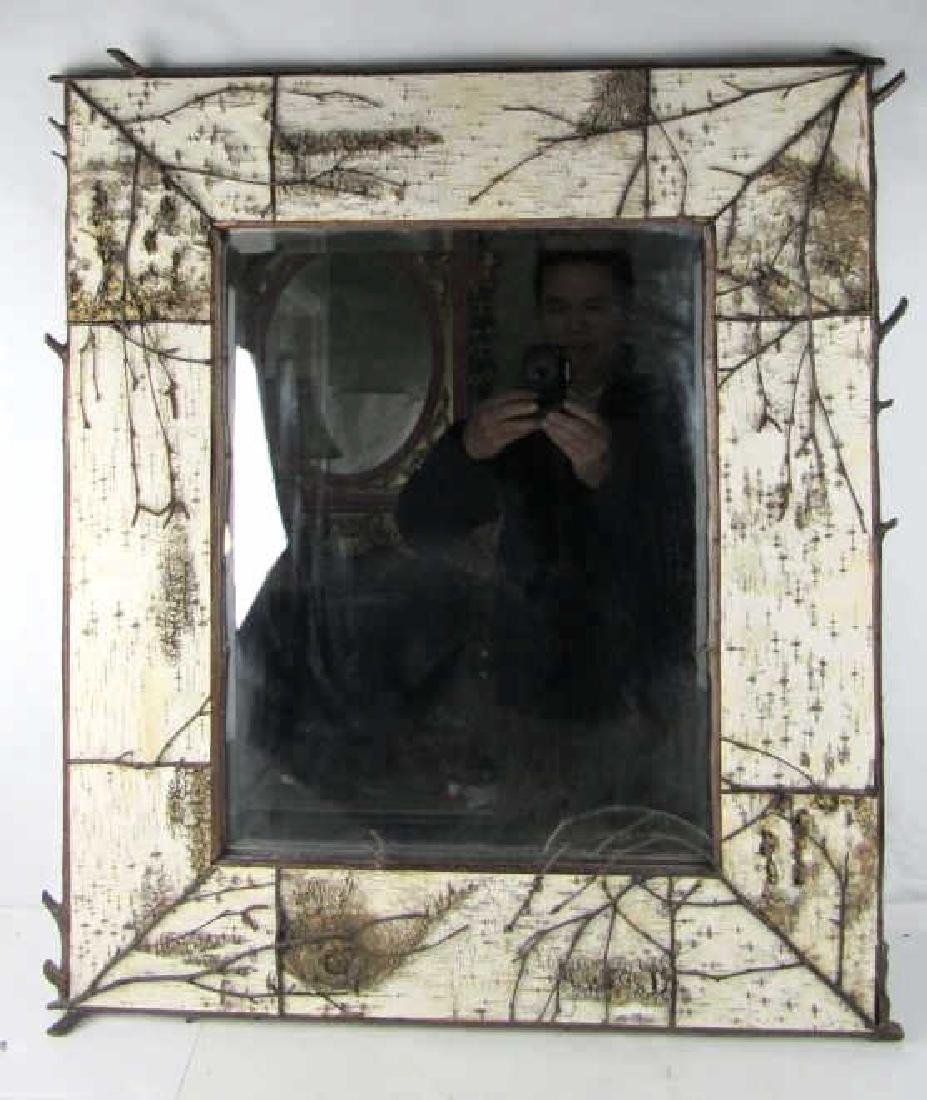 Birch Bark Hanging Mirror