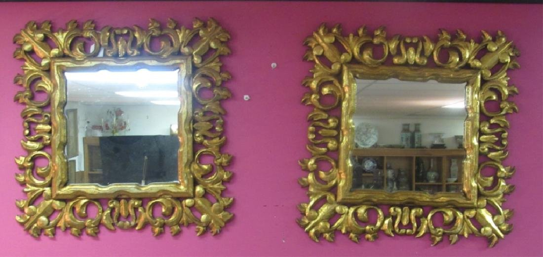 Pair of Gilt Framed Mirrors