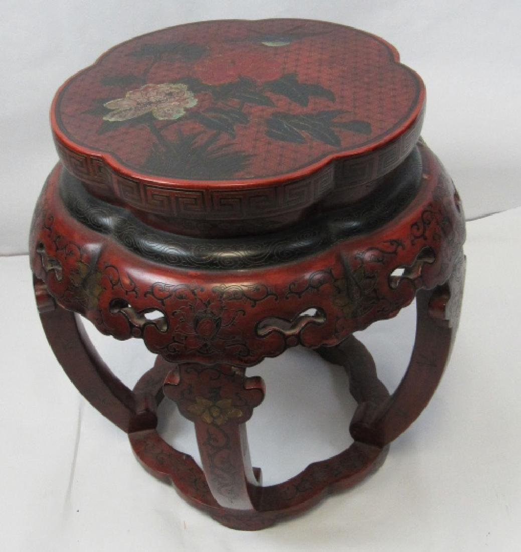 Red Chinese Ming Dynasty Stand