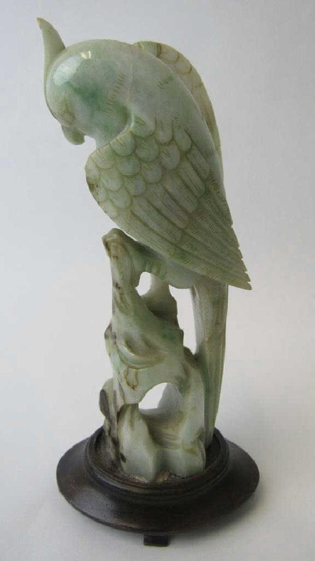 Chinese Jade Bird Statue