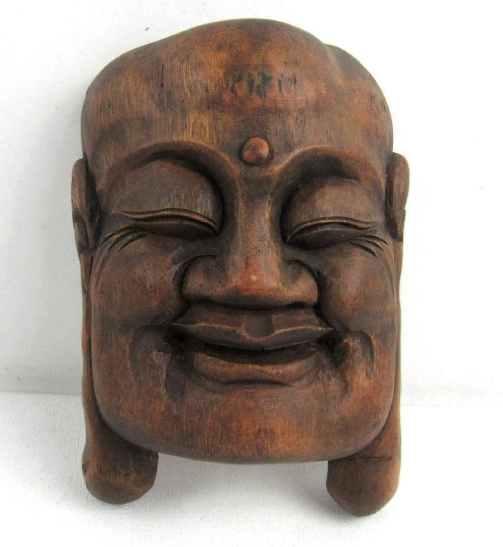 Chinese Qing Dynasty style Bamboo Carving Buddha
