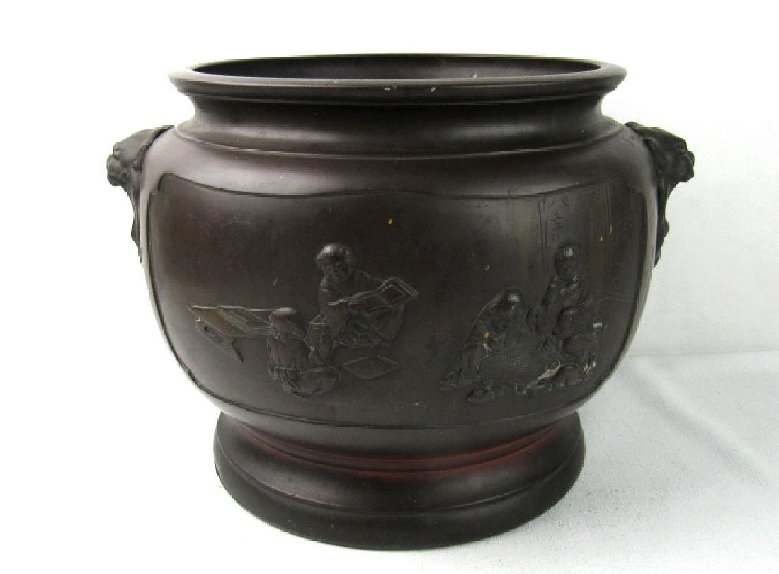 Qing Dynasty Style Bronze Pot