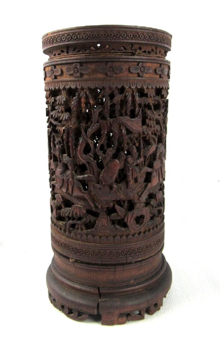 Chinese Qing Dynasty Style Carved Bamboo