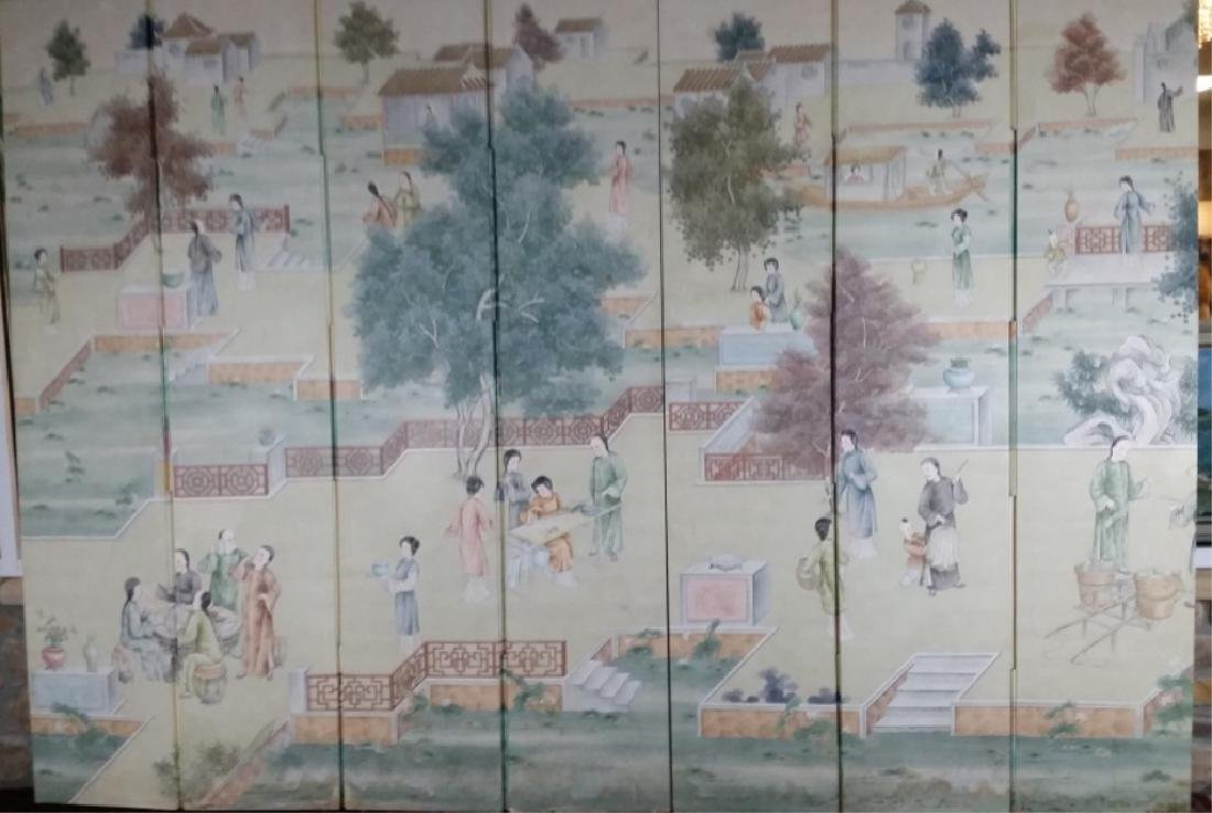 19th Century Carved and Painted Screen Panels