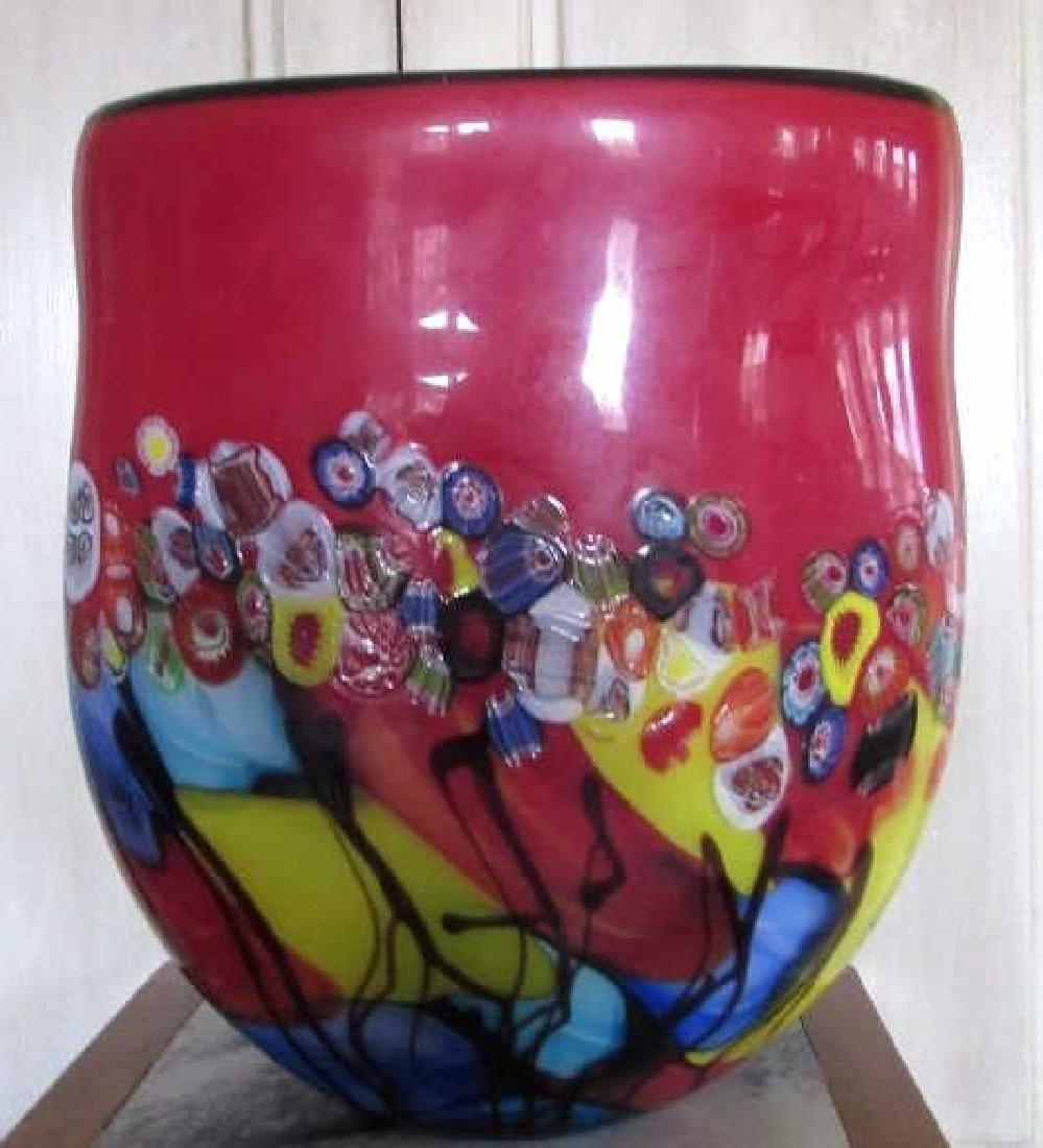 Colorfui Morano Glass Vase