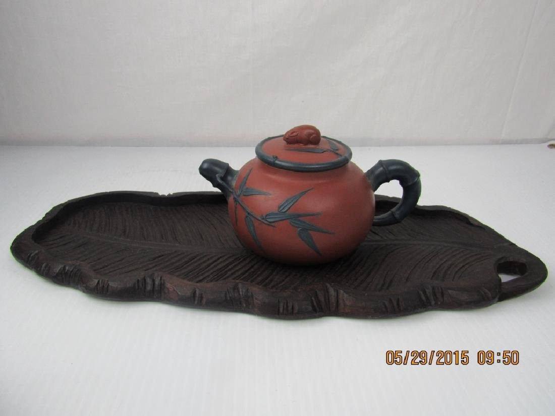 Old Chinese YiXing Zisha Teapot; Marked