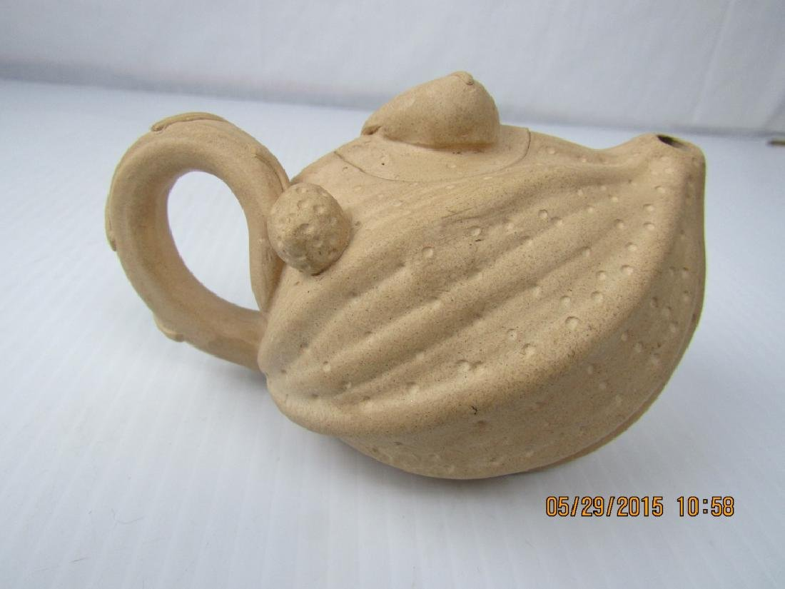 Sand Colored Palm Teapot