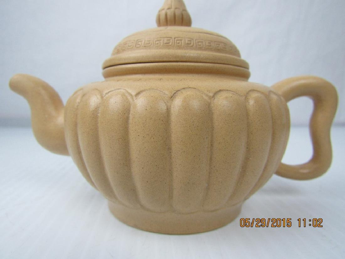 Sand Colored Palm Teapot