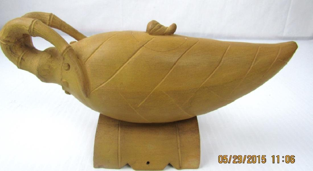 Sand Colored Palm Teapot - 4