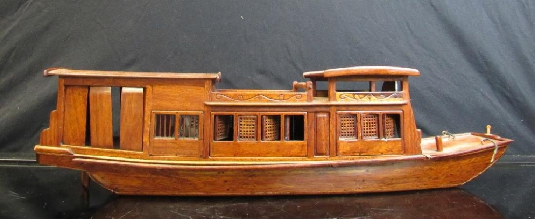 Wood Model of a Chinese Sampan
