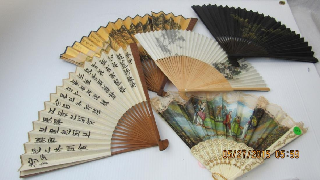 Set of Five Hand Fan