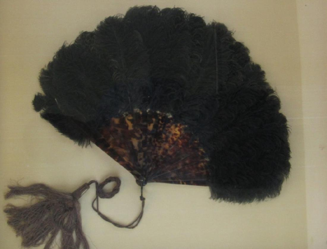 Wood and Feather Fan