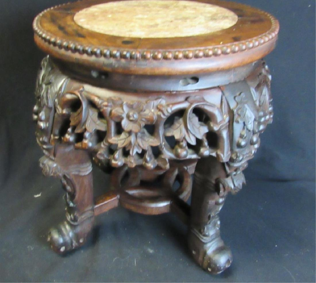 19th Century Marble Top Wood Stand