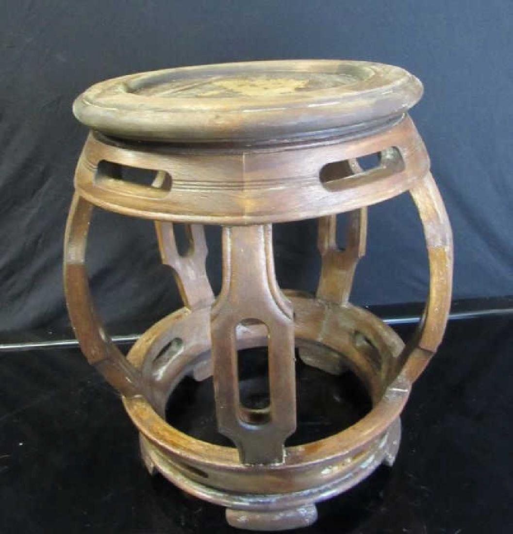 Hongmu Barrel-Form Drum Stool
