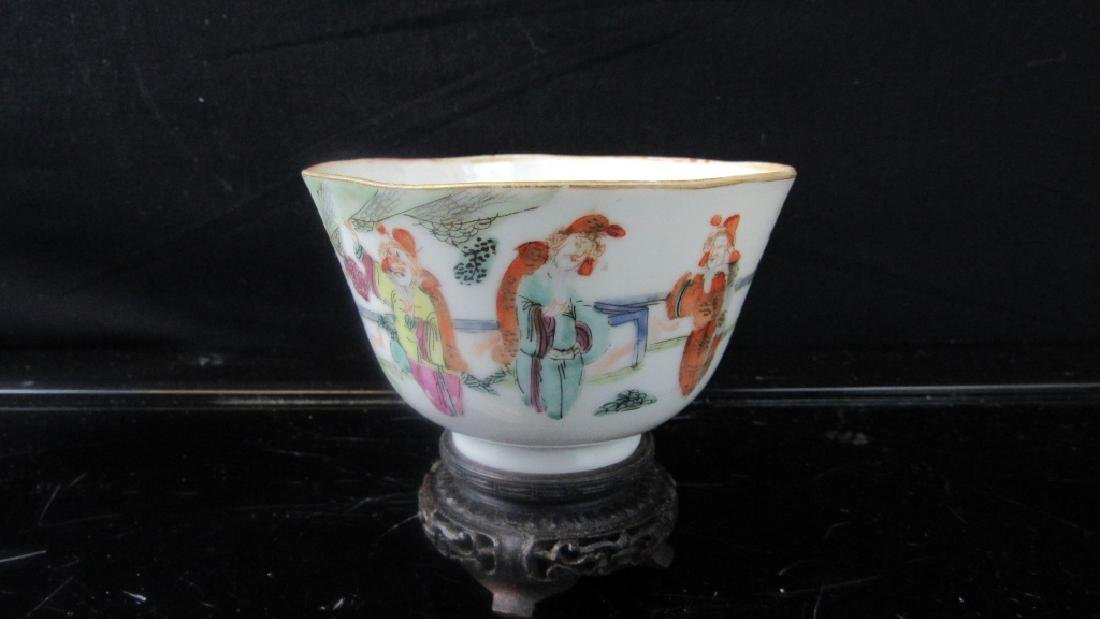 Qing Dynasty Style Porcelain Cup