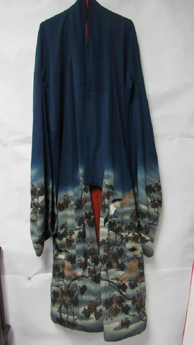 Vintage Japanese Silk Robe