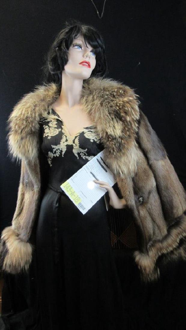 Vintage Brown Puffy Fur Coat