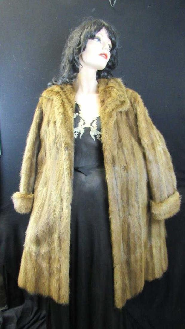 Allen's Vintage Golden Brown Fur Coat