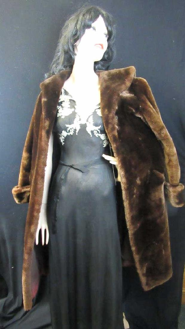 Mozzie Rudrick's Vintage Brown Fur Coat